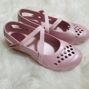 Skechers Rubber Mary Jane Strappy Pink Shoe Sz 6